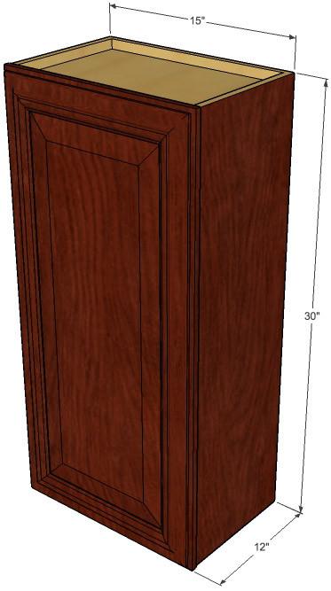 Small Single Door Brandywine Maple Wall Cabinet 15 Inch