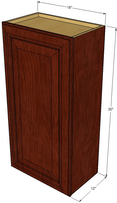 small single door brandywine maple wall cabinet 18 inch wide x 30 inch high kitchen cabinet. Black Bedroom Furniture Sets. Home Design Ideas