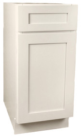 Arcadia Linen Shaker Small Base Cabinet with 15 Inch Door & Drawer