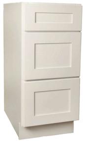 Arcadia Linen Shaker 3 Drawer Base Cabinet 18 Inch