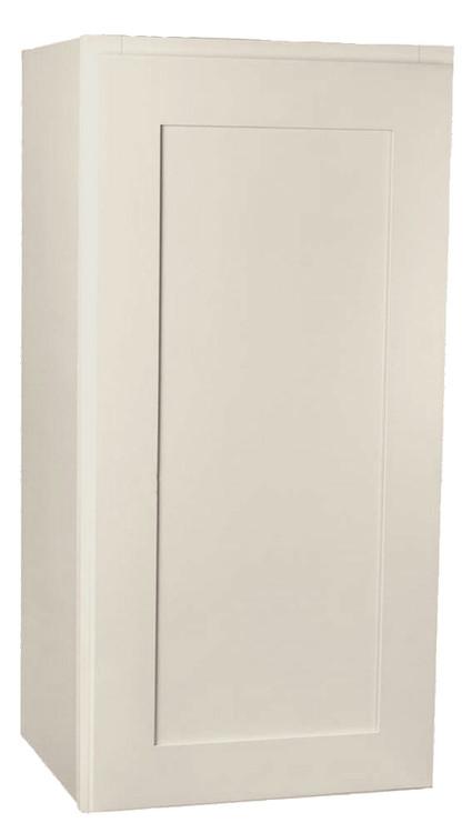 Small Single Door Arcadia Linen Shaker Wall Cabinet 15 Inch Wide X 30 Inch High