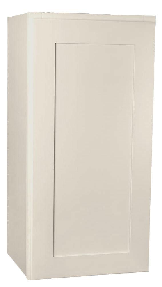 Small Single Door Arcadia Linen Shaker Wall Cabinet 15 Inch Wide X 36 Inch High