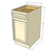 Nantucket Linen White Small Base Cabinet with 12 Inch Door & Drawer