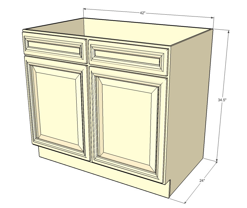 Nantucket Linen White Sink Base Unit With 2 False Drawers 60 Inch Kitchen Cabinet Warehouse