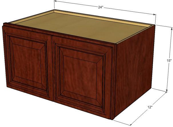 Brandywine Maple Horizontal Overhead Wall Cabinet - 24 ...