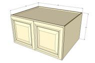 Nantucket Linen White Horizontal Fridge Wall Cabinet - 36 Inch Wide x 24 Inch High x 24 Inch Deep