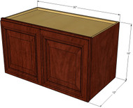 Brandywine Maple Horizontal Overhead Wall Cabinet - 30 Inch Wide x 15 Inch High