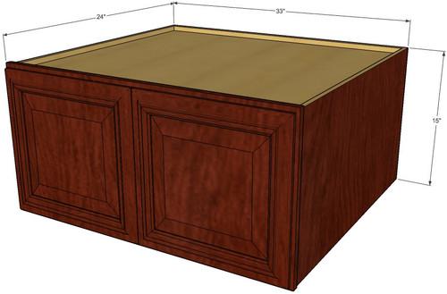 Brandywine Maple Horizontal Fridge Wall Cabinet 33 Inch