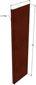 Brandywine Maple Fridge Panel - 84 Inch