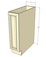 Tuscany White Maple Small Base Cabinet with Single 9 Inch Door