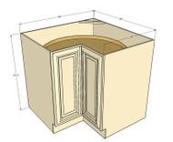 Tuscany White Maple Lazy Susan Corner Base Cabinet