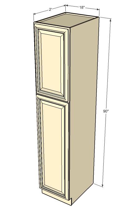 Oak Pantry Cabinet