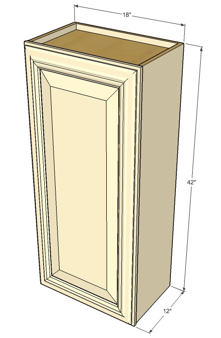 Small Single Door Tuscany White Maple Wall Cabinet - 21 ...