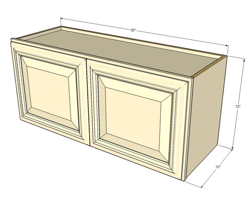 Tuscany White Maple Horizontal Overhead Wall Cabinet - 30 ...