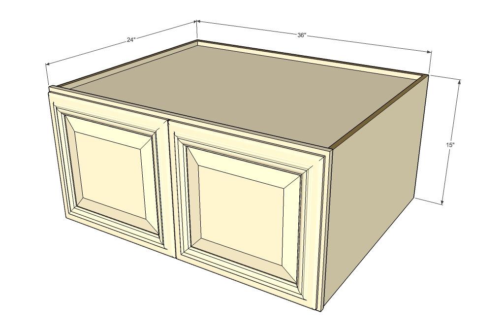 Tuscany White Maple Horizontal Fridge Wall Cabinet - 36 ...