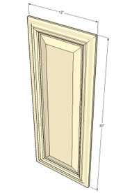 Tuscany White Maple Decorative Door - 12 Inch Wide x 30 Inch High