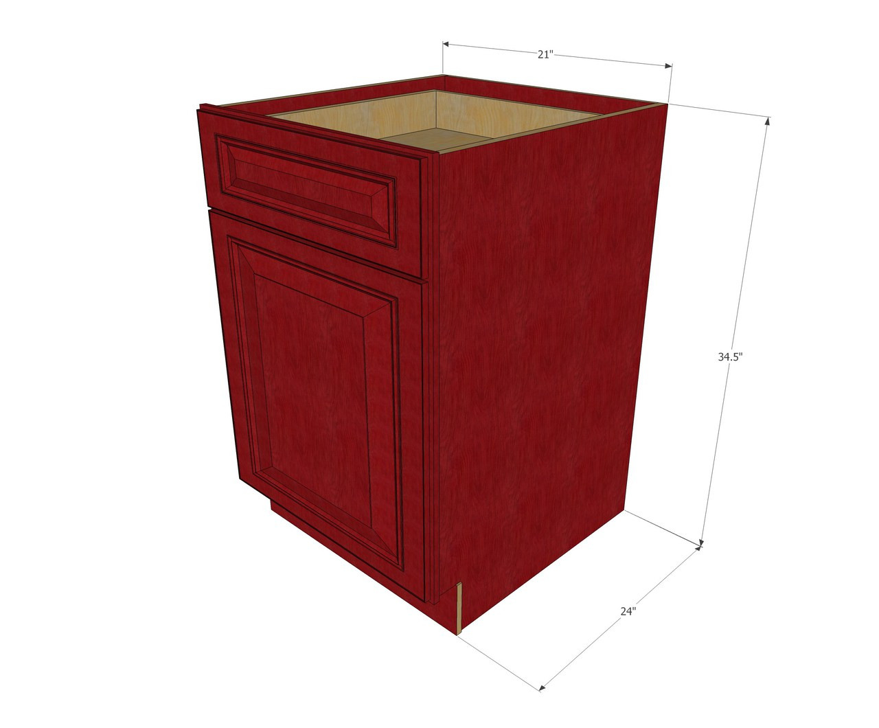 Grand Reserve Cherry Small Base Cabinet with 21 Inch Door ...