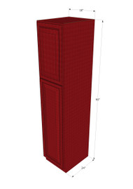 Grand Reserve Cherry Pantry Cabinet Unit 18 Inch Wide x 90 Inch High