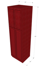 Grand Reserve Cherry Pantry Cabinet Unit 24 Inch Wide x 84 Inch High