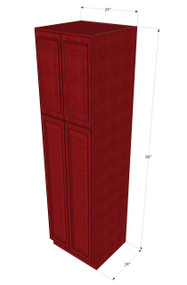 Grand Reserve Cherry Pantry Cabinet Unit 24 Inch Wide x 96 Inch High