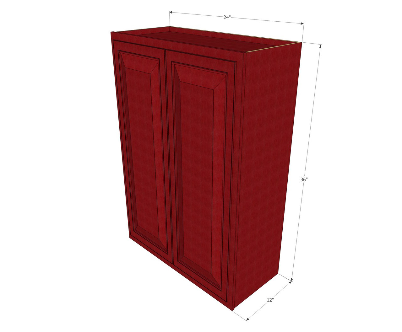 Large Double Door Grand Reserve Cherry Wall Cabinet 24 Inch Wide X 36 Inch High Kitchen Cabinet Warehouse