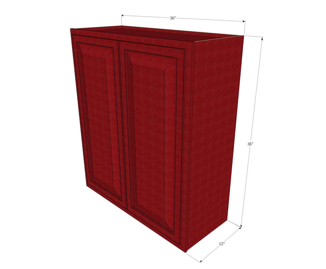 Large Double Door Grand Reserve Cherry Wall Cabinet - 36 ...