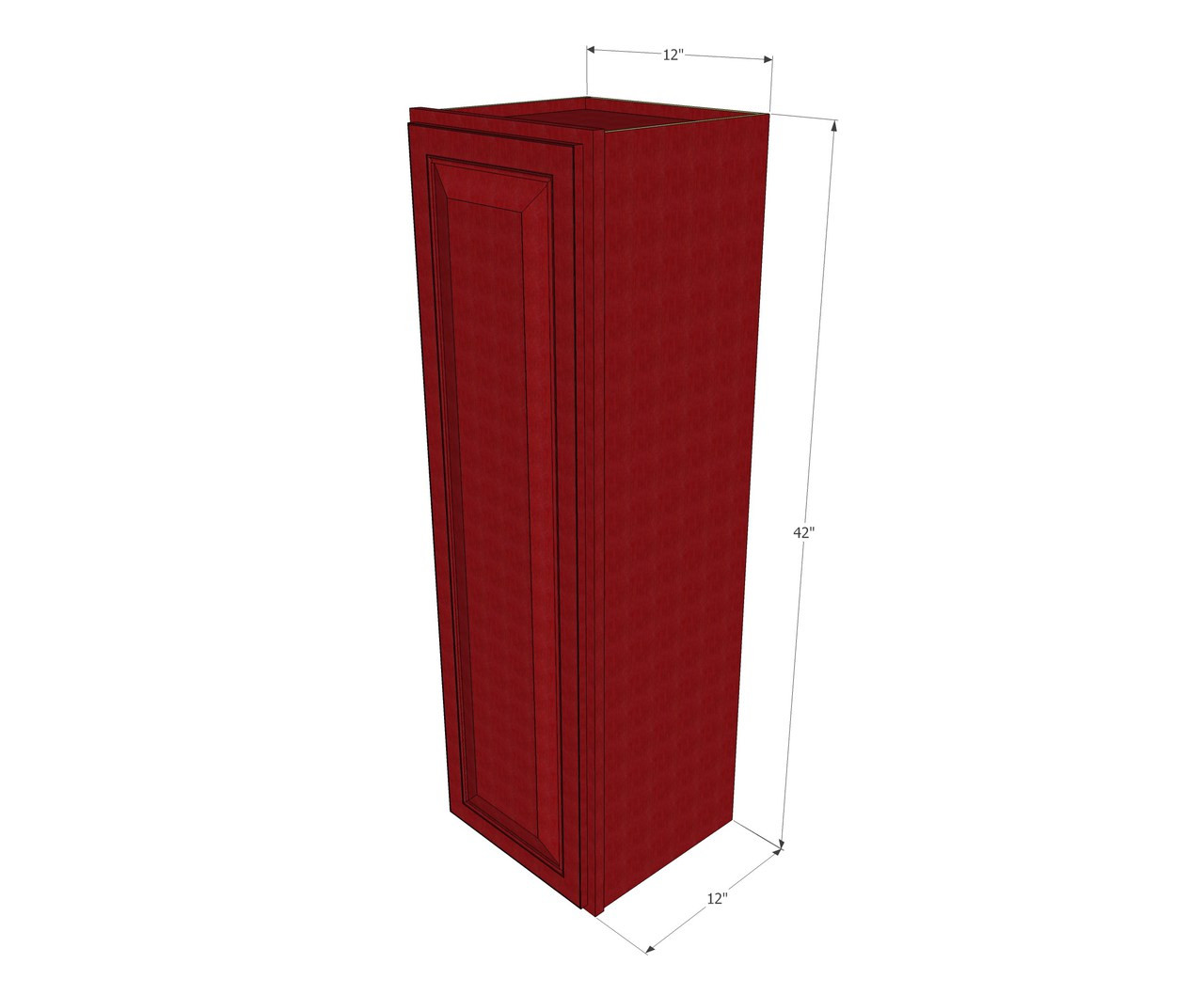 Small Single Door Grand Reserve Cherry Wall Cabinet - 12 ...