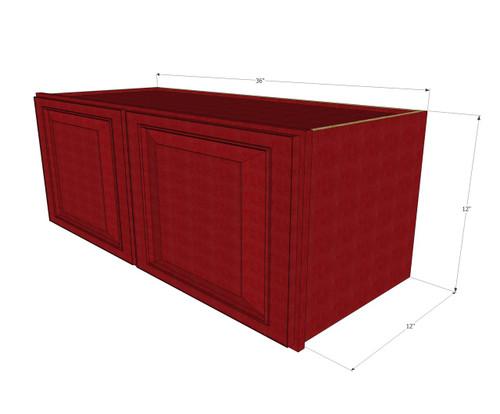 Grand Reserve Cherry Horizontal Overhead Wall Cabinet - 36 ...
