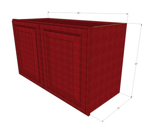 Grand Reserve Cherry Horizontal Overhead Wall Cabinet 36