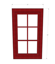 Grand Reserve Cherry Mullion Glass Door - 15 Inch Wide x 30 Inch High