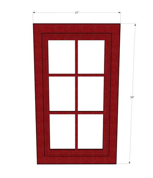 Grand Reserve Cherry Mullion Glass Door - 15 Inch Wide x ...