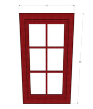 Grand Reserve Cherry Mullion Glass Door - 15 Inch Wide x 36 Inch High