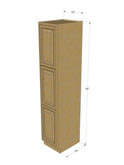 Regal Oak Pantry Cabinet Unit 18 Inch Wide X 96 Inch High