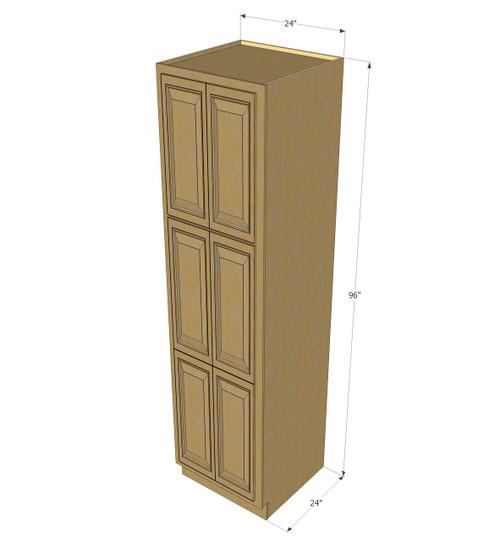 Oak Pantry Cabinets Kitchen: Regal Oak Pantry Cabinet Unit 24 Inch Wide X 96 Inch High