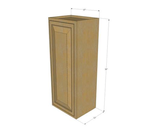 Small Single Door Regal Oak Wall Cabinet - 15 Inch Wide x ...