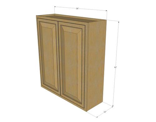 Large Double Door Regal Oak Wall Cabinet - 36 Inch Wide x ...