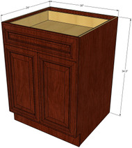 Brandywine Maple Medium Base Cabinet with Double Doors & Single Drawer - 30 Inch Width