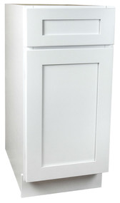 Arcadia White Shaker Small Base Cabinet with 15 Inch Door & Drawer