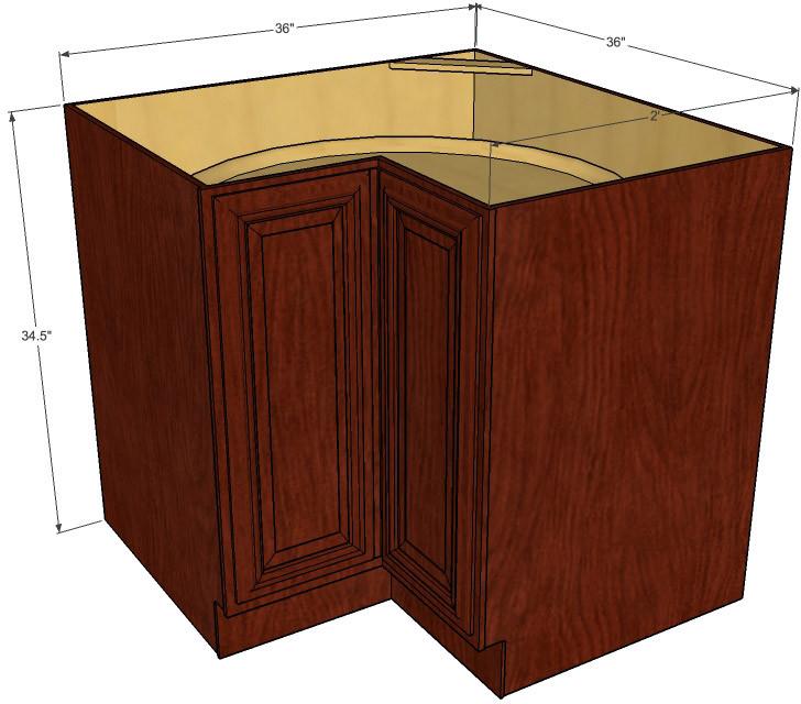 Brandywine Maple Lazy Susan Corner Base Cabinet - Kitchen ...