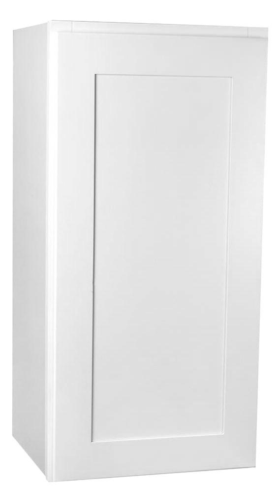 Small Single Door Arcadia White Shaker Wall Cabinet - 18 ...