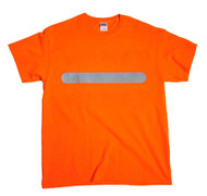 One point Single  Horizontal Bar  Hi-Vis T- shirt -  Safety Orange