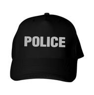 Reflective Black Cap  Police