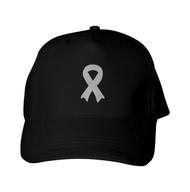 Reflective Baseball Cap -   Awareness Ribbon - Silver