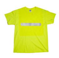 ( TWO POINT )  Hi-Vis  T-shirt - horizontal bar  front & vertical bar rear   Safety Green