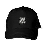 Reflective Black Cap  - Rounded Square - Segmenta