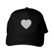Reflective baseball Cap  - Heart  - Silver