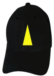 Reflective Black Cap  - Triangle - Yellow
