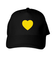 Reflective Baseball Cap -  Heart  - Yellow