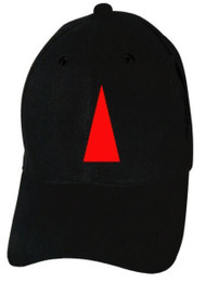 Reflective Black Cap  - Triangle - Red