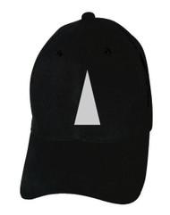 Reflective Black Cap  - Triangle -  Silver